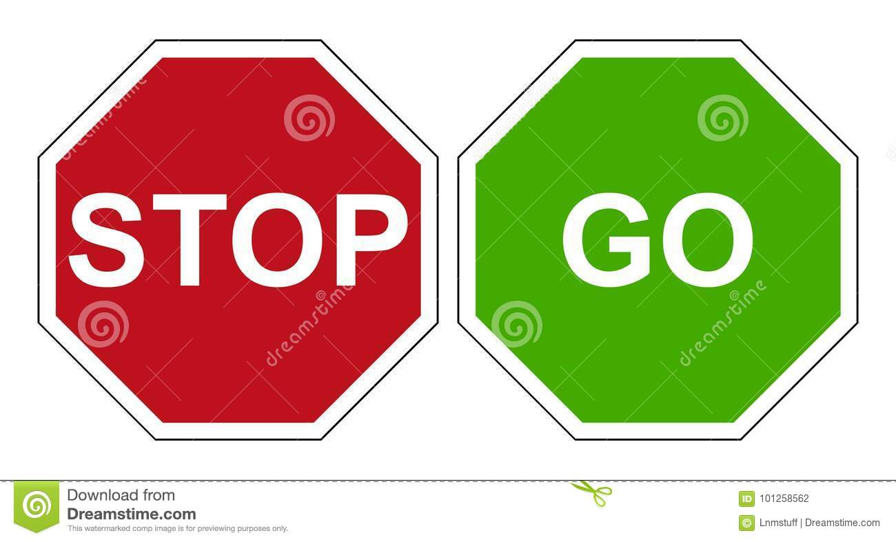 Stop go sign stock vector. Illustration of button, highway ...
