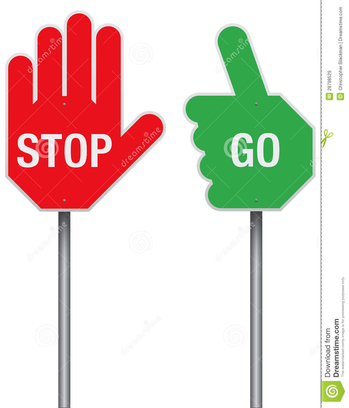Stop And Go Signs Stock Image Image Of Highway Protect