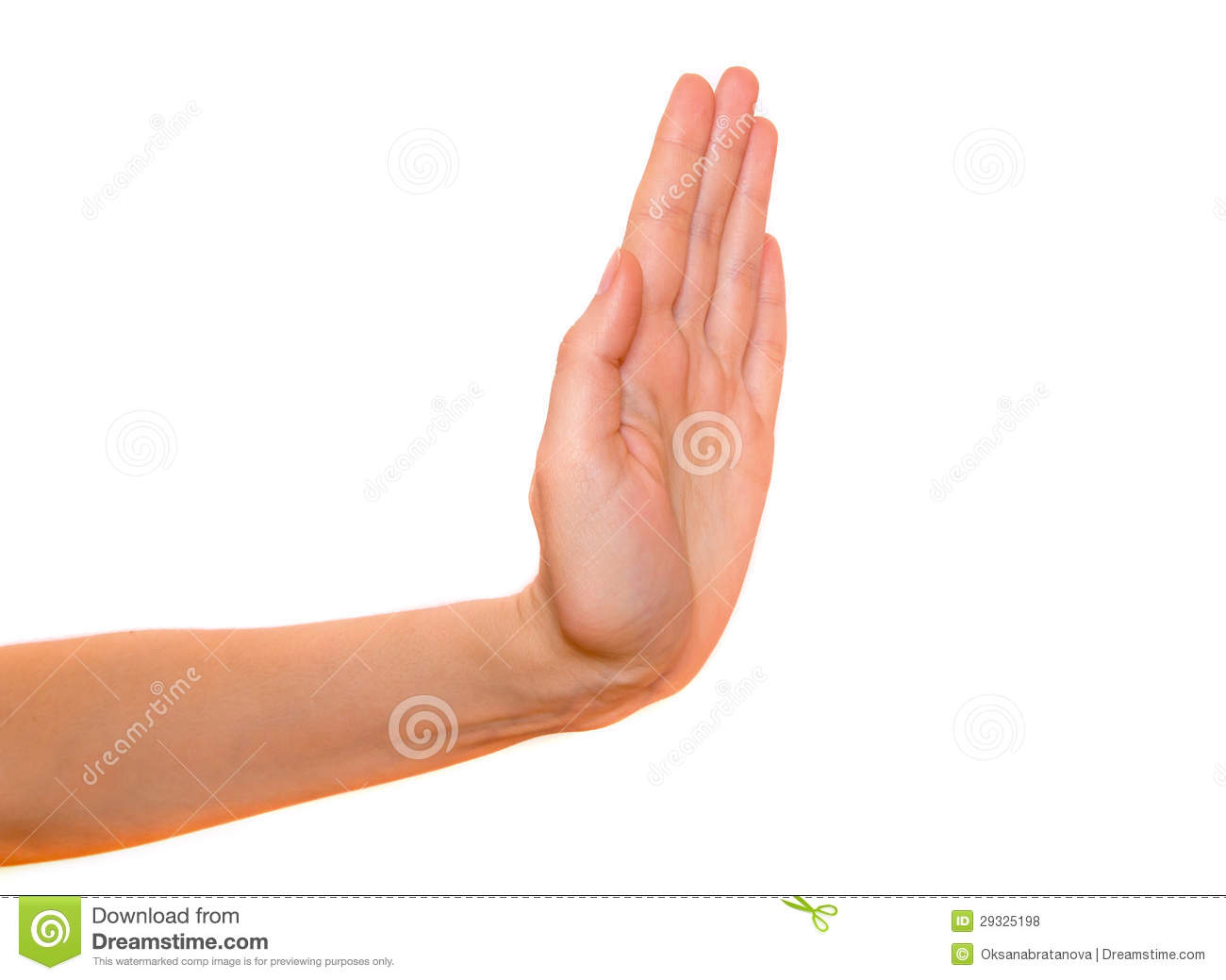 Stop Hand Gesture Stock Photo Image Of Part Symbol 29325198