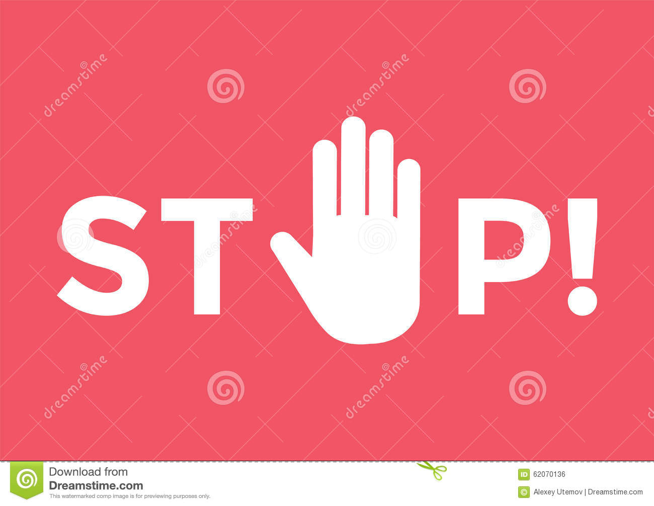 Stop Hand Sign Symbol Stock Vector Illustration Of Palm 62070136