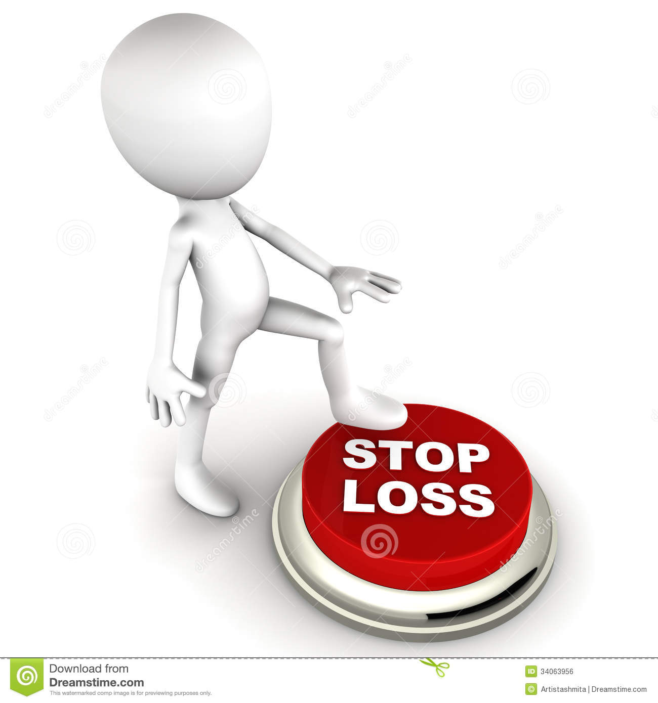 Stock Quotes Free Real Time: Stop Loss Royalty Free Stock Image