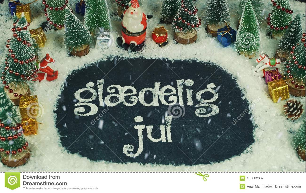 stop motion animation of gldelig jul danish in english merry christmas - Merry Christmas In Danish