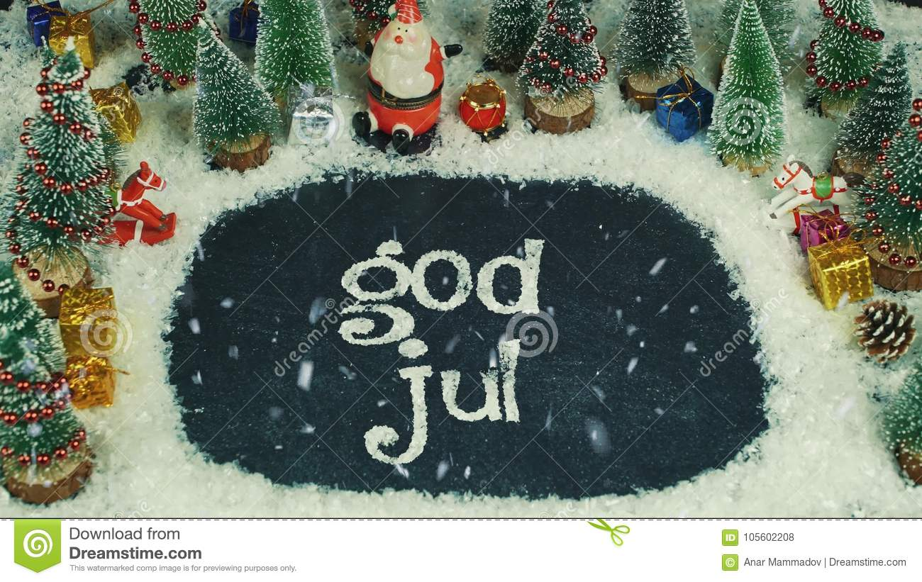 Merry Christmas In Norwegian.Stop Motion Animation Of God Jul Norwegian In English Merry