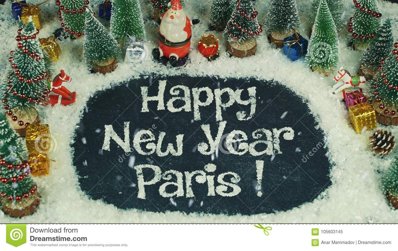 stop motion animation of happy new year paris