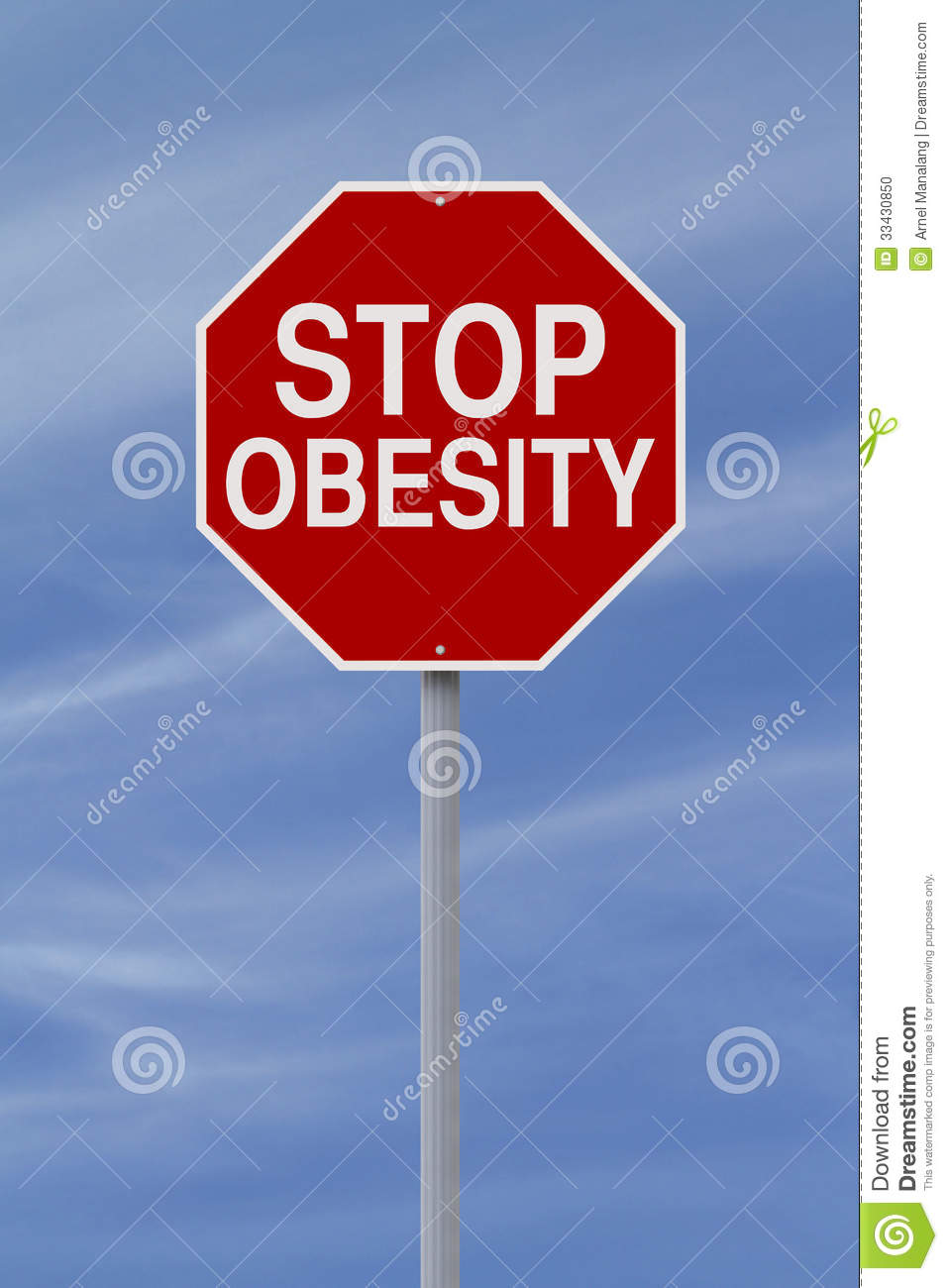 stop obesity stock photo