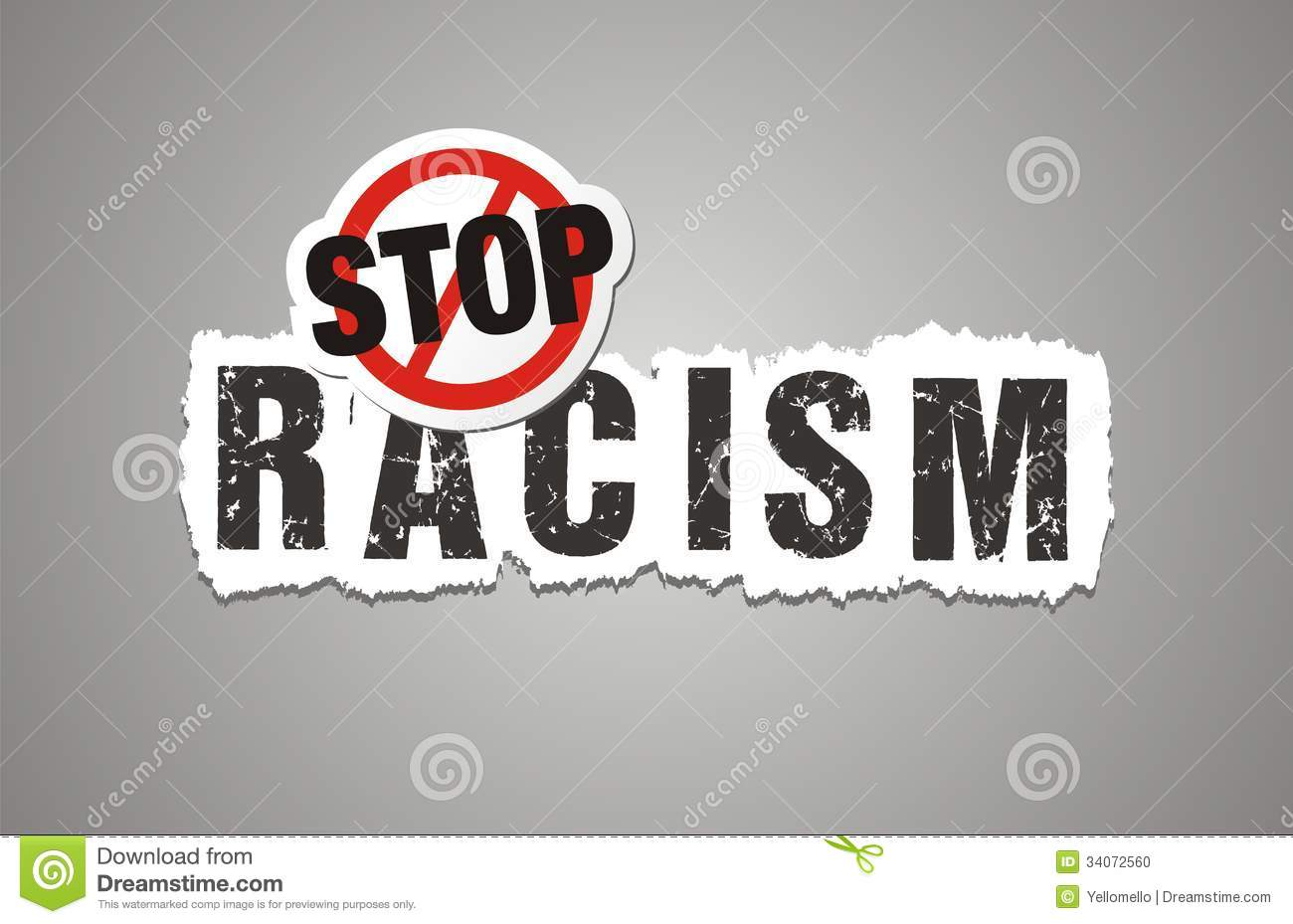 Stop Racism Poster, Beckdrop, Banner Stock Photo - Image: 34072560