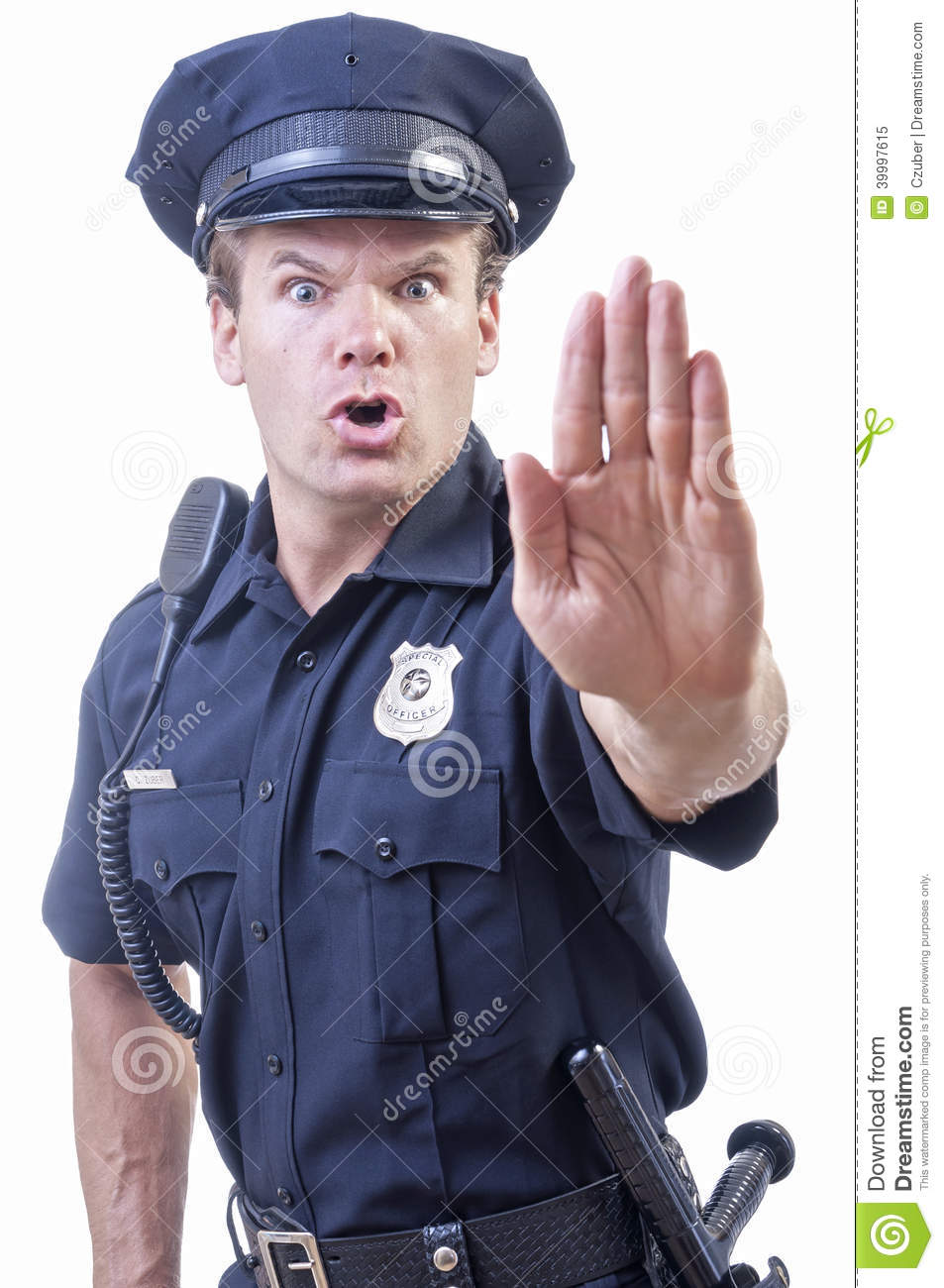 Stop Right There Stock Photo - Image: 39997615