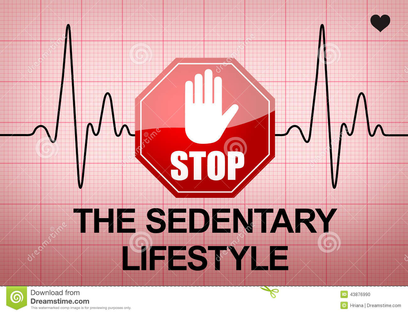 stop the sedentary lifestyle on ecg recording paper stock