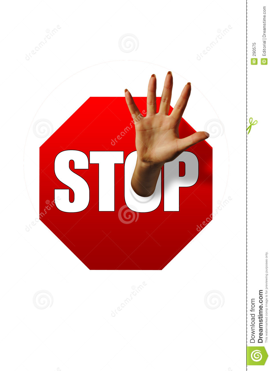 Royalty Free Stock Photo Stop Sign And Hand Image 290575