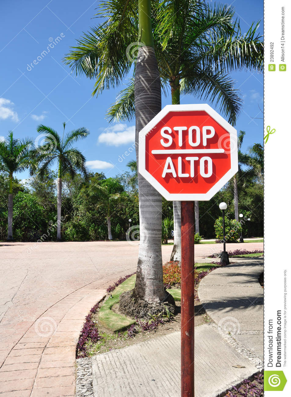 Stop Sign in Spanish and English