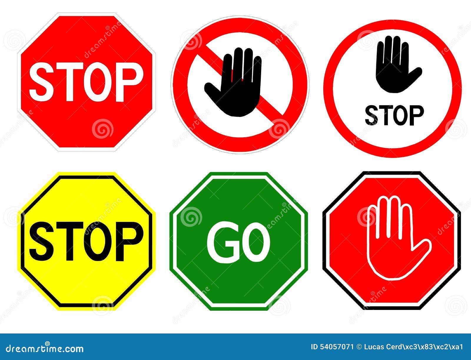 stop signs stock illustration image 54057071. Black Bedroom Furniture Sets. Home Design Ideas
