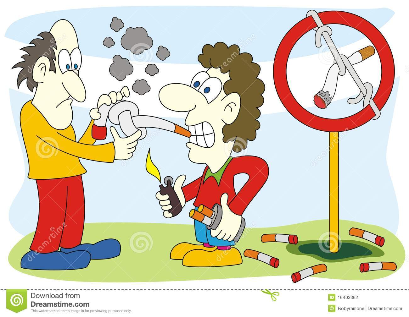 Stop Smoking Sign Illustration Stock Photography - Image: 16403362