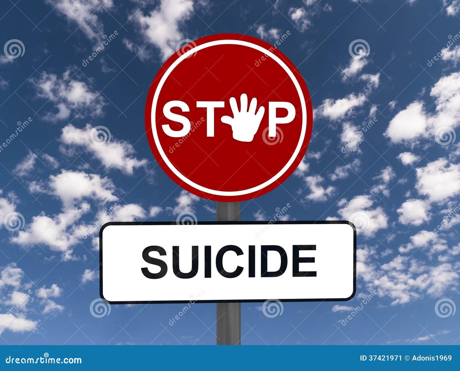stop suicide road sign stock image image 37421971. Black Bedroom Furniture Sets. Home Design Ideas