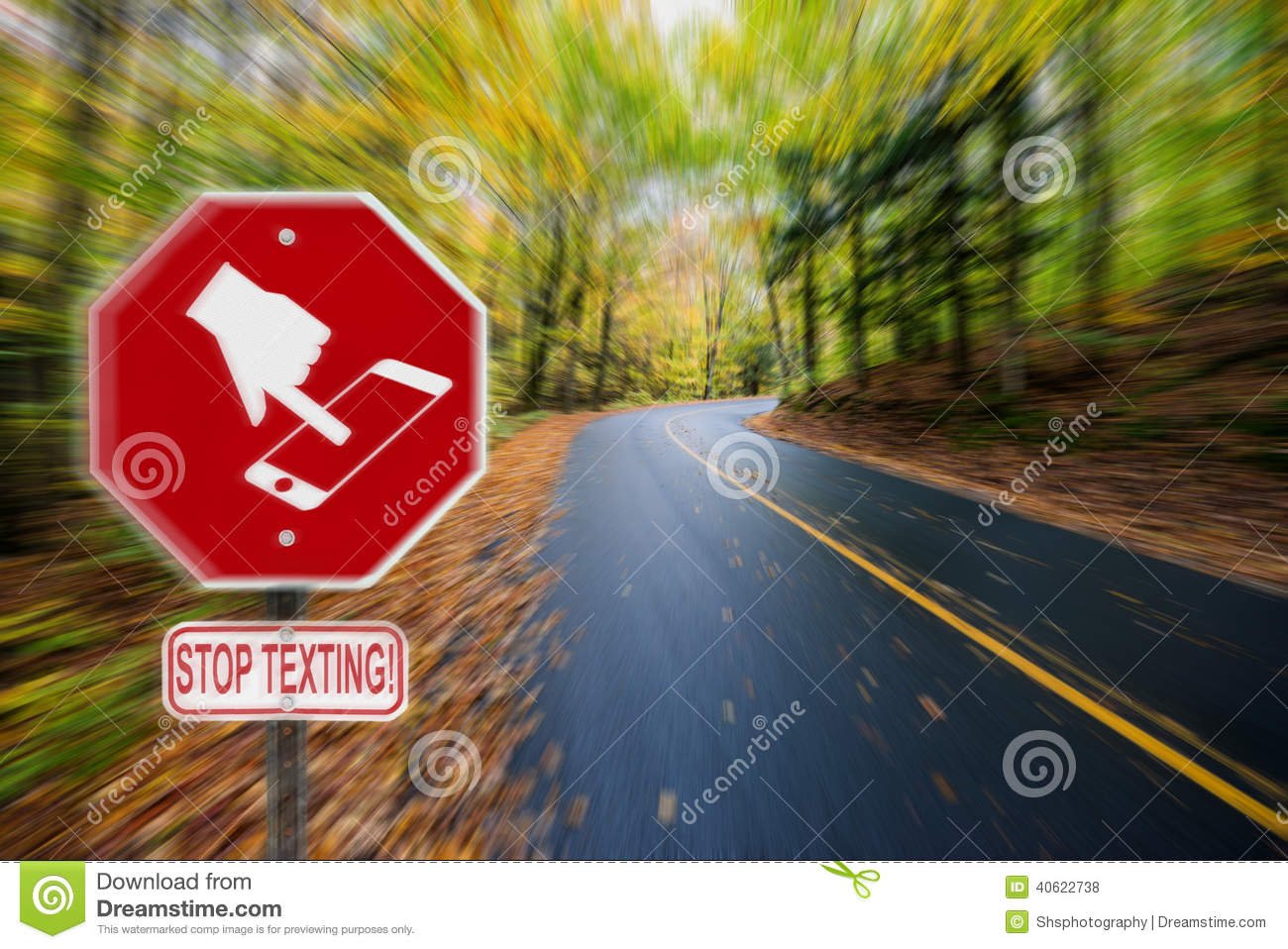 Stop texting icon sign fall country road stock photo image of royalty free stock photo buycottarizona