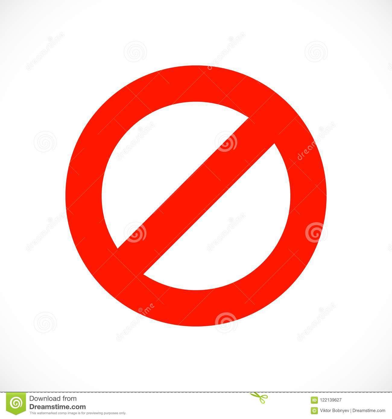 stop warning red symbol template stock vector illustration of