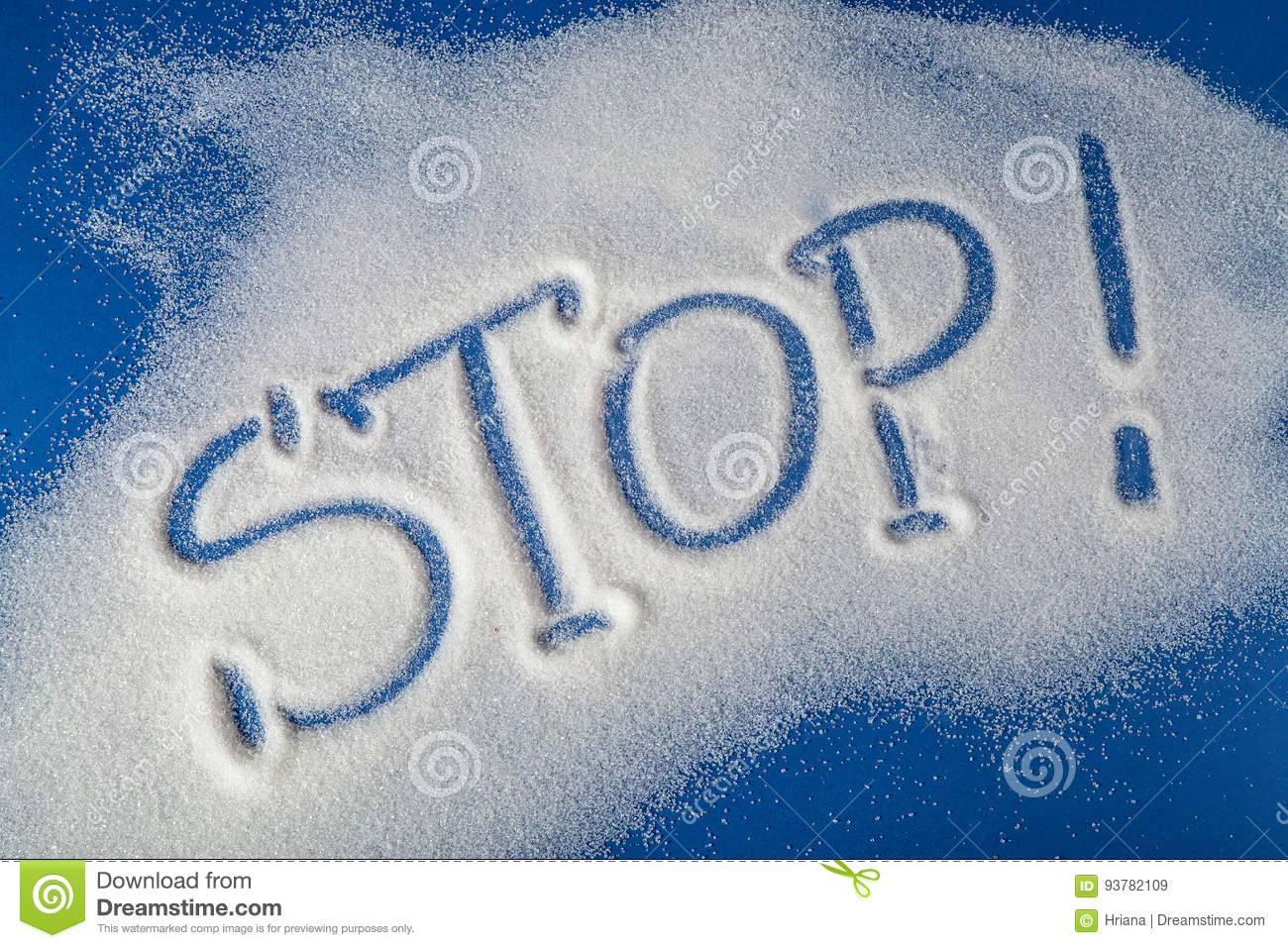 STOP written with sugar