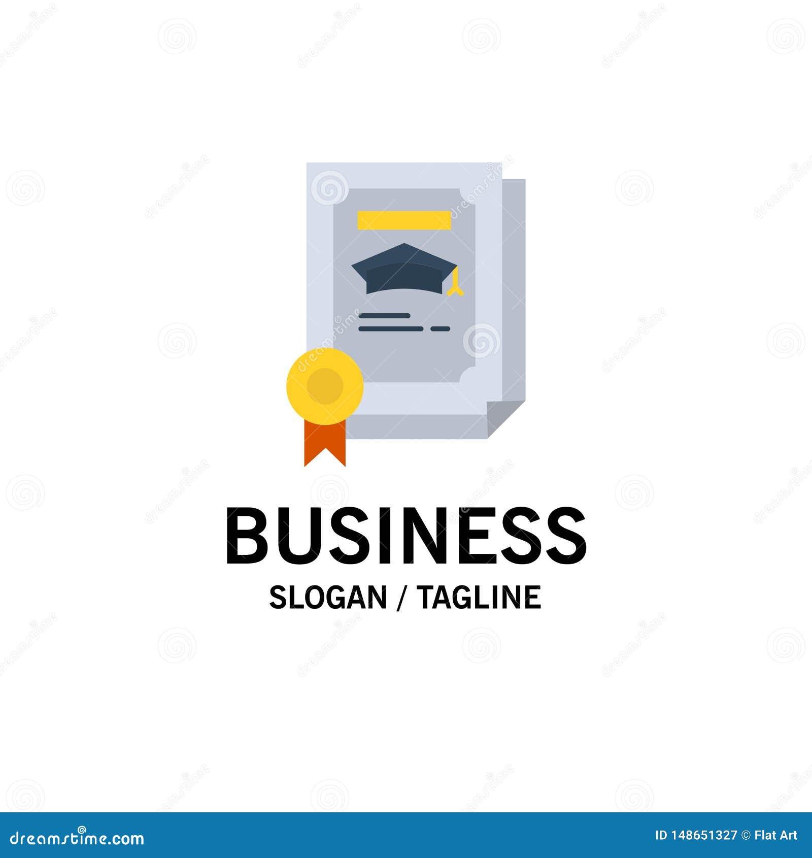 Stopień, osiągnięcie, świadectwo, Magisterski Biznesowy logo szablon p?aski kolor