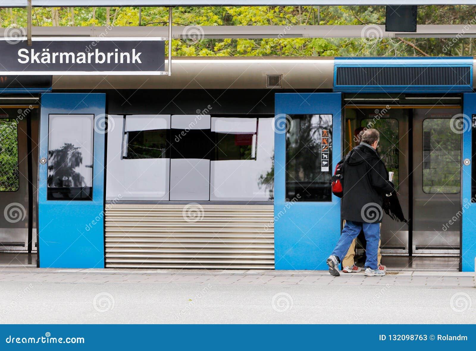 Stopp på tunnelbanastationen