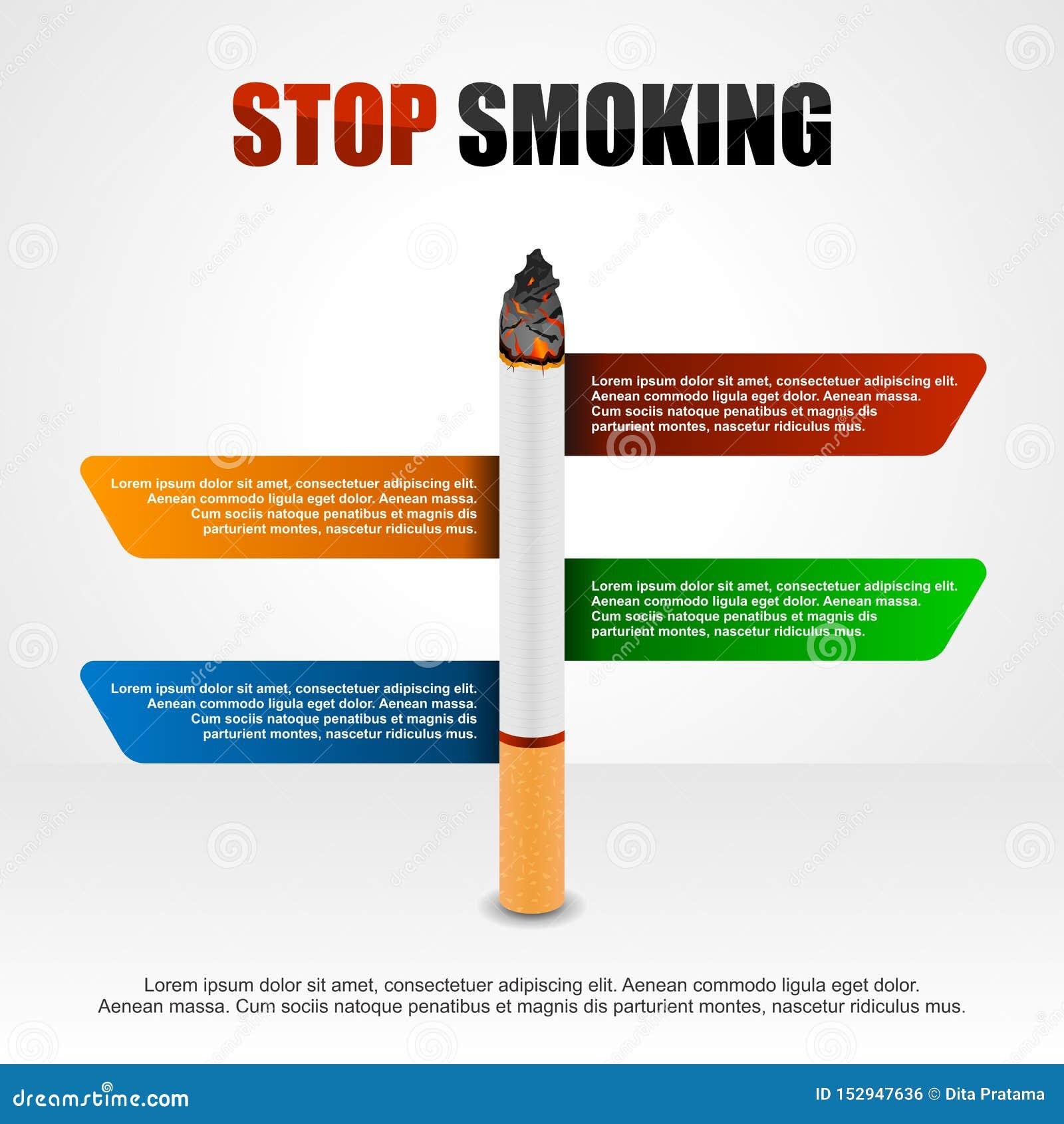 Stoppa att röka infographic cigaretter