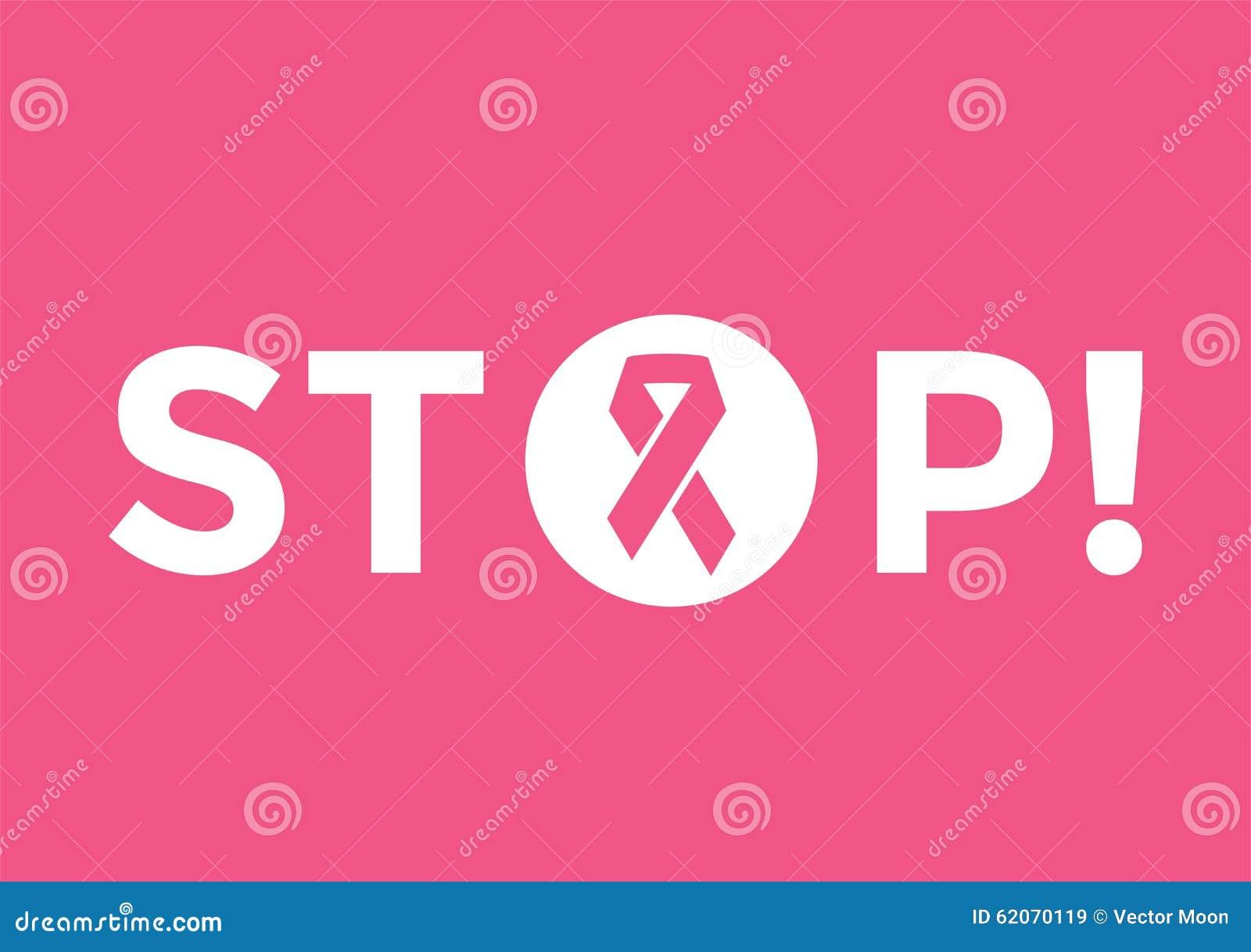 Stoppa det medicinska affischbegreppet för cancer