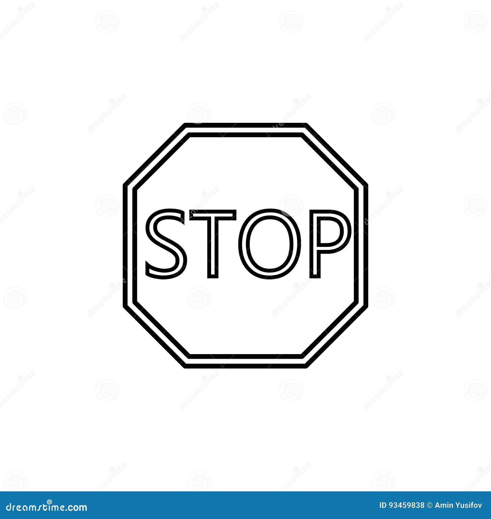 6060e6bceec2 Stoppa Linjen Symbolen, Reglerande Tecken För Trafik Vektor ...