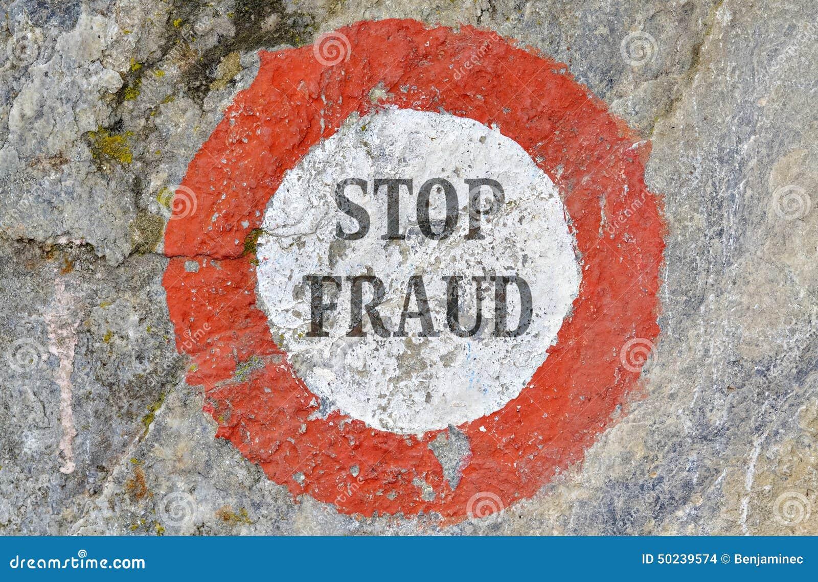 Stoppen Sie Betrug