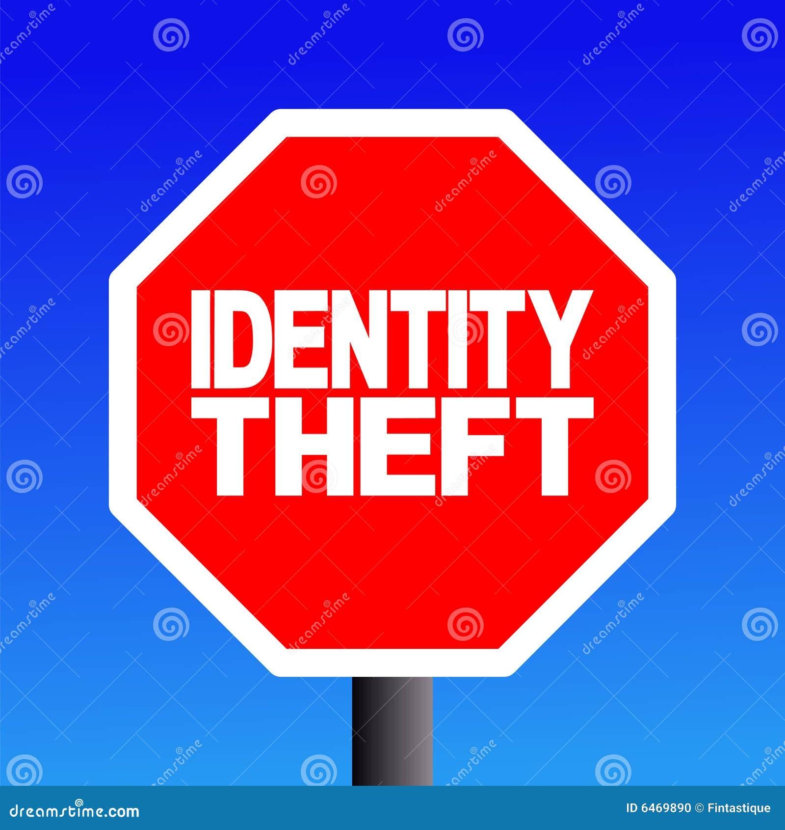 Stoppen Sie Identitätsdiebstahlzeichen
