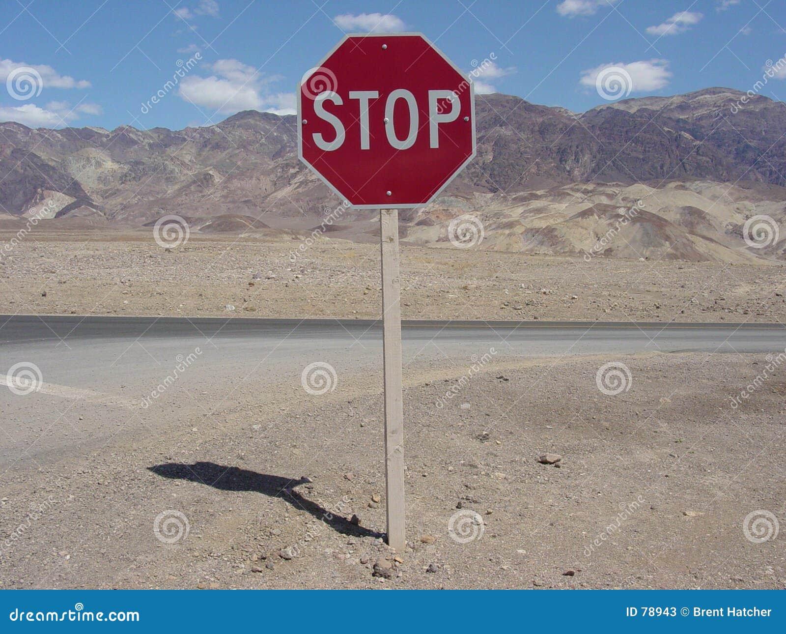 Stoppen Sie kennzeichnen innen Death Valley