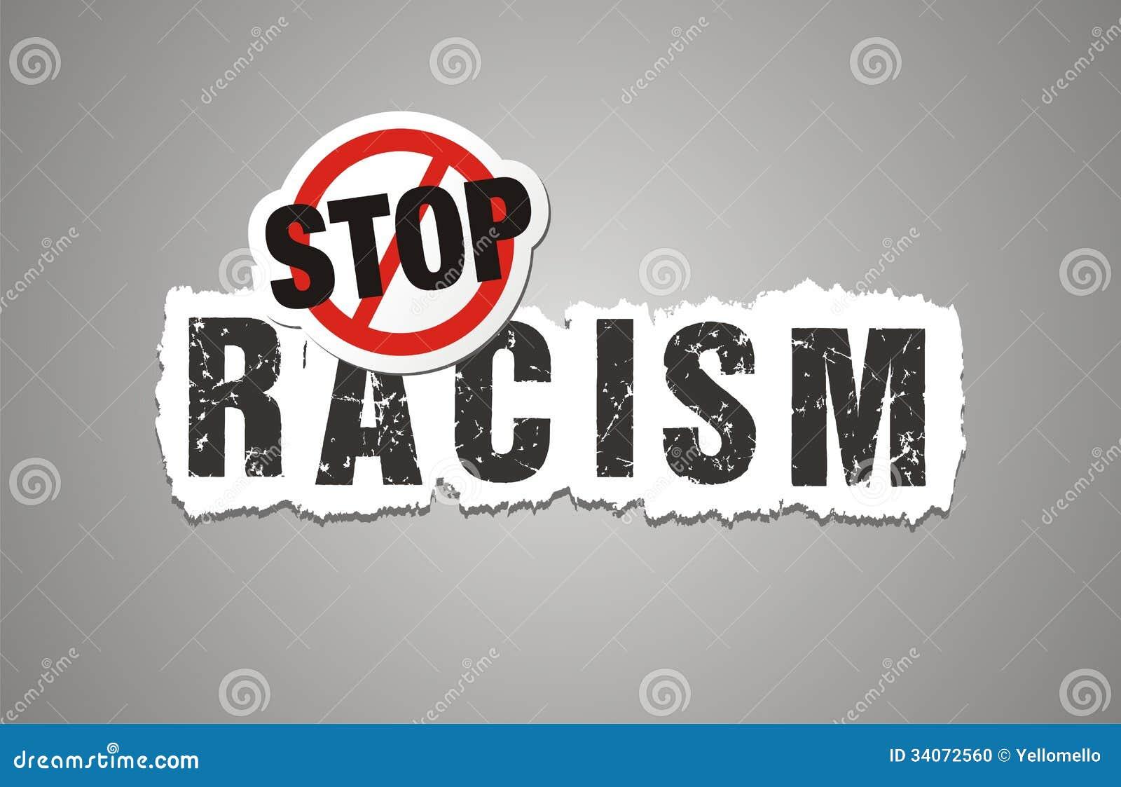Stoppen Sie Rassismusplakat, beckdrop, Fahne