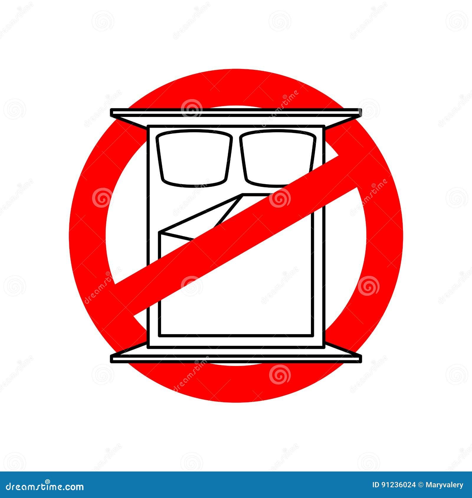 stoppen sie um zu schlafen es ist zum schlafen verboten strikethrough bett an vektor abbildung. Black Bedroom Furniture Sets. Home Design Ideas