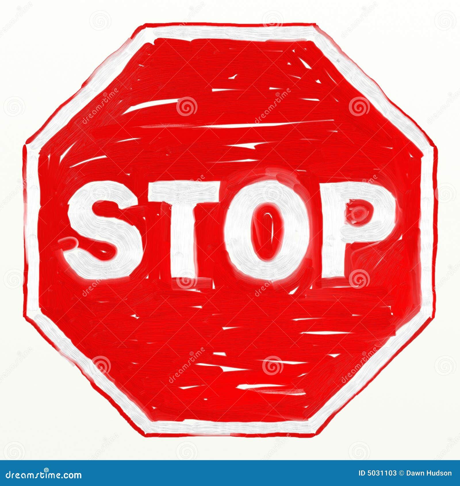 Stoppen Sie Zeichen