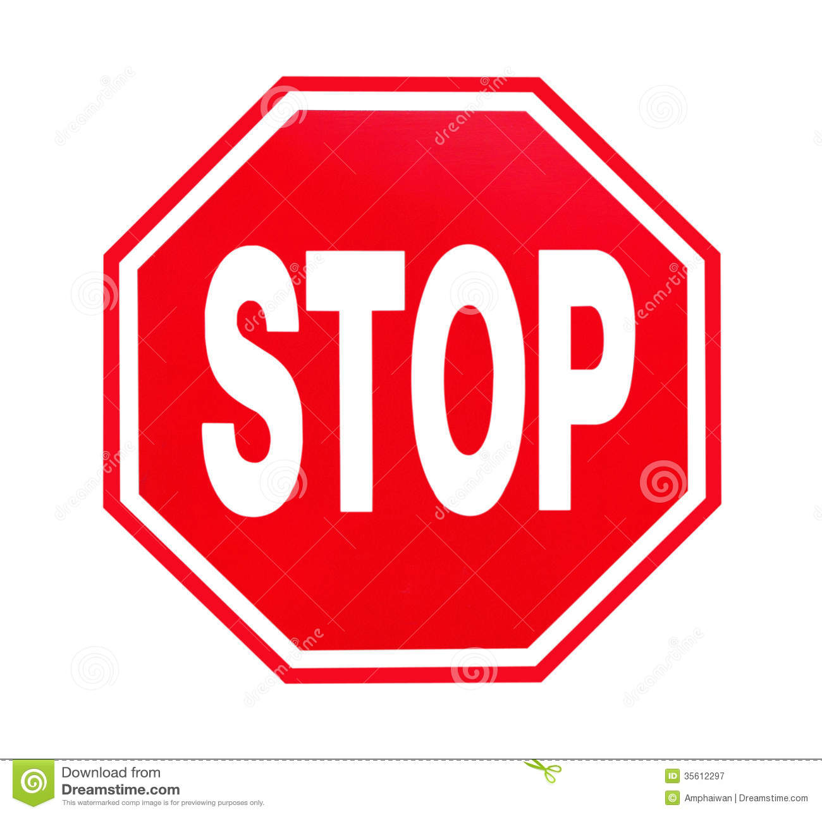 Stoppschild Lizenzfreie Stockfotografie - Bild: 35612297
