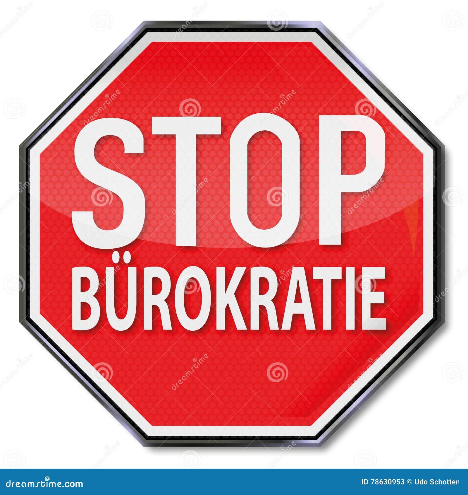 Stoppschild ohne Bürokratie