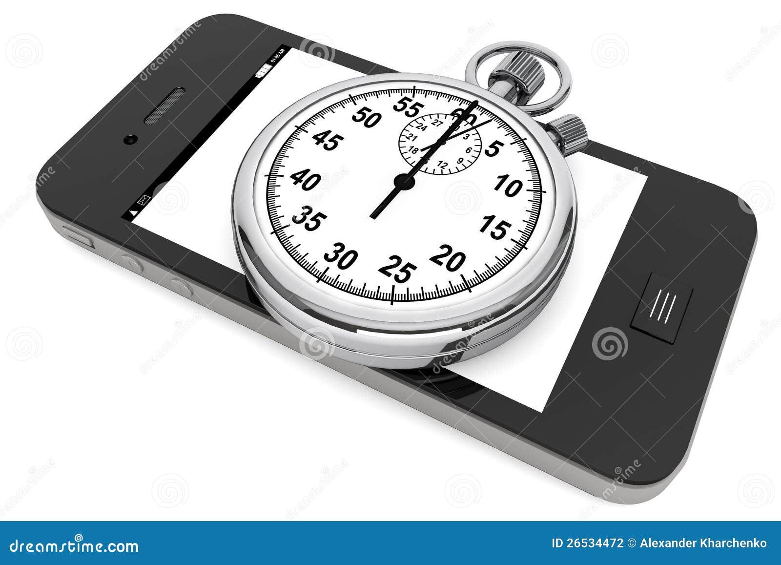 Stoppuhr mit Handy