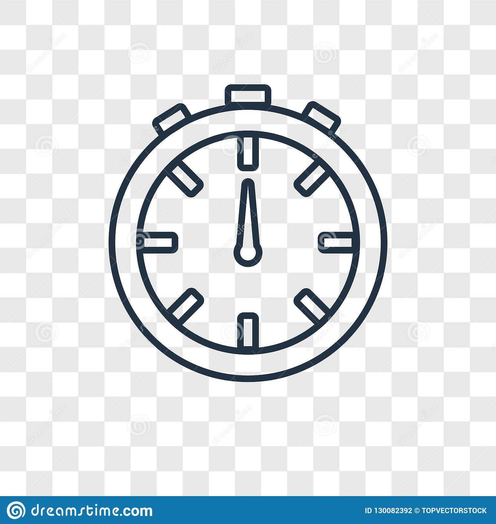 Stopwatch Concept Vector Linear Icon Isolated On Transparent