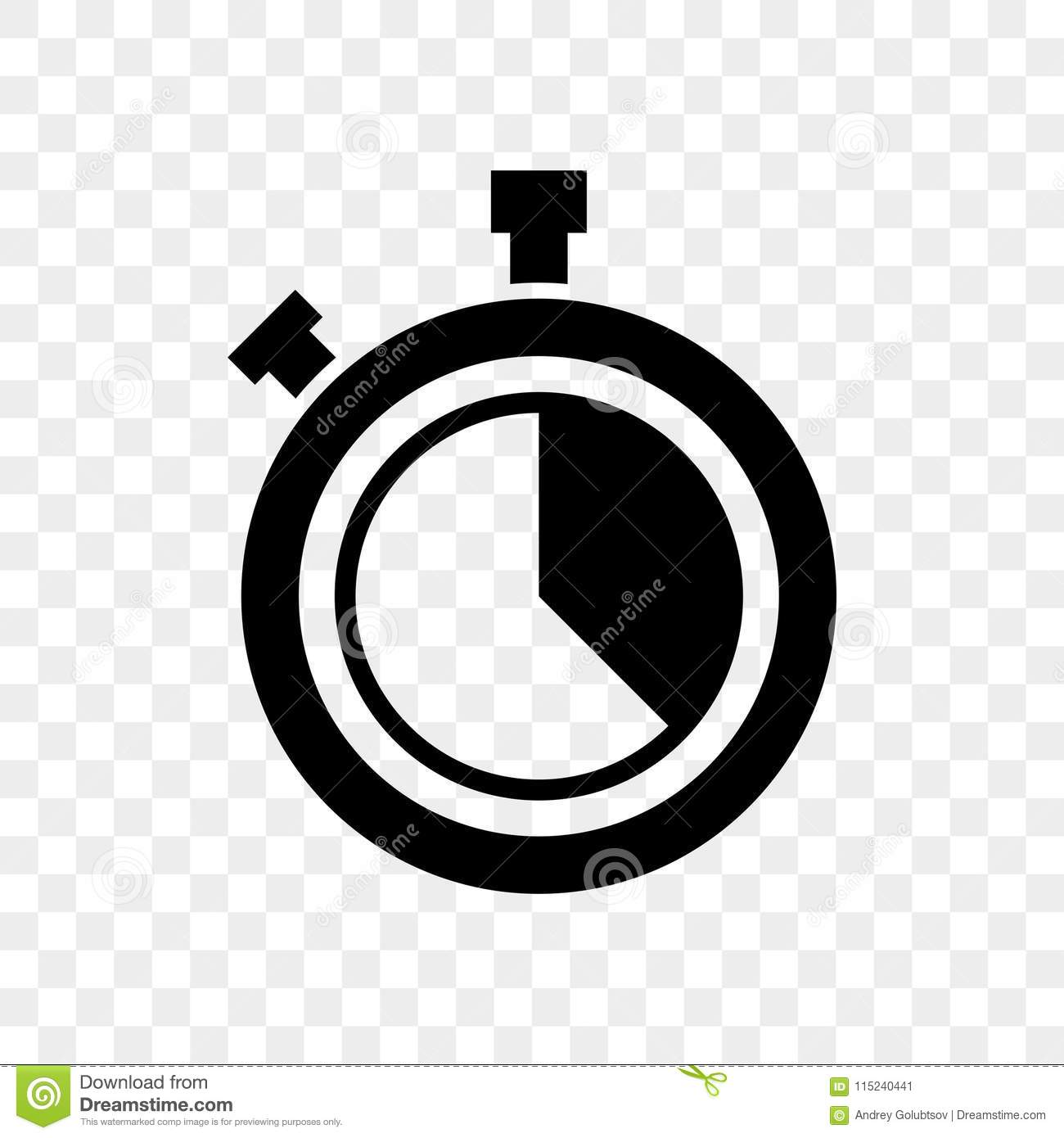 Stopwatch countdown clock buttons vector icon