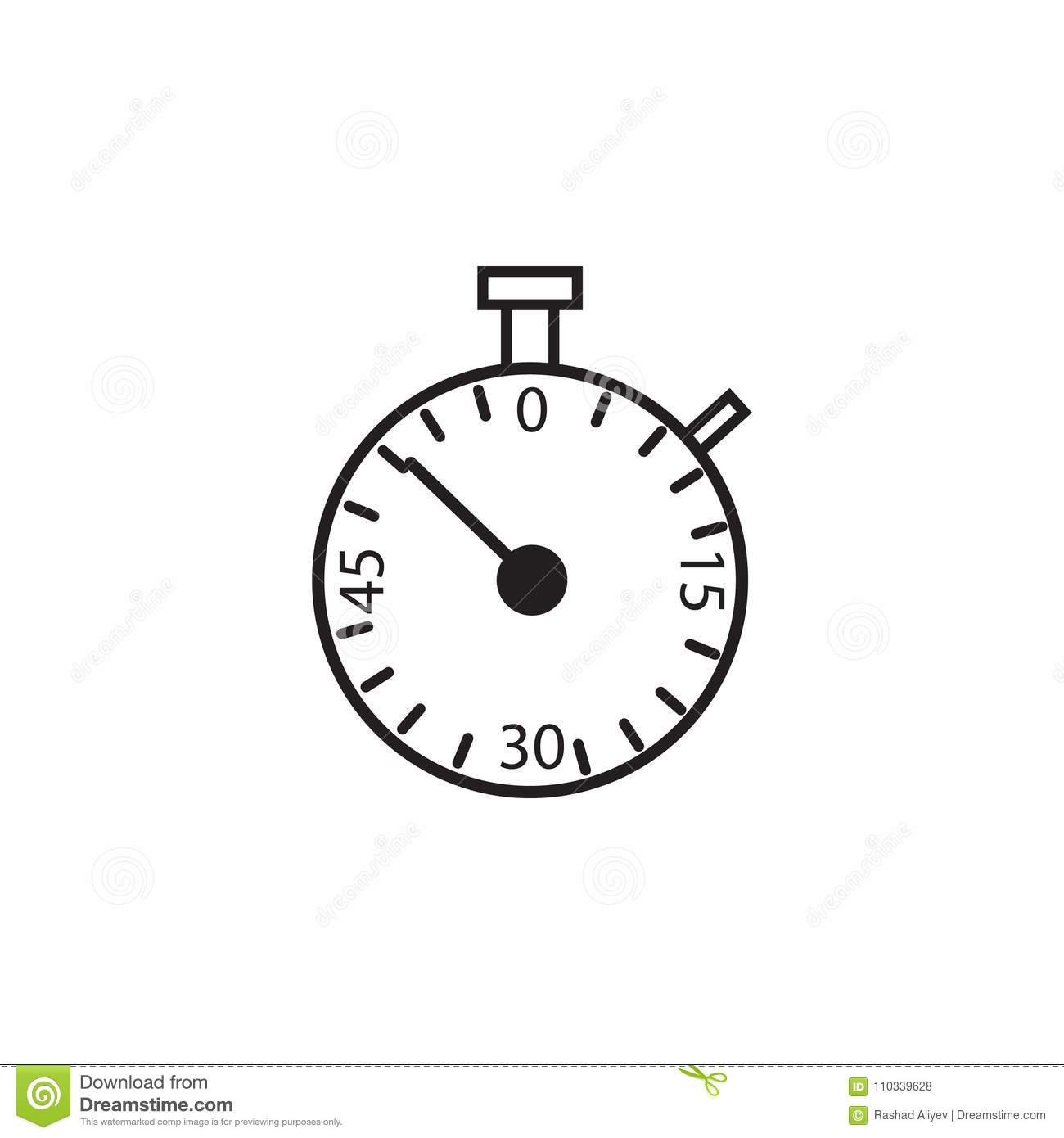 Stopwatch Icon  Element Of Measuring Items For Mobile