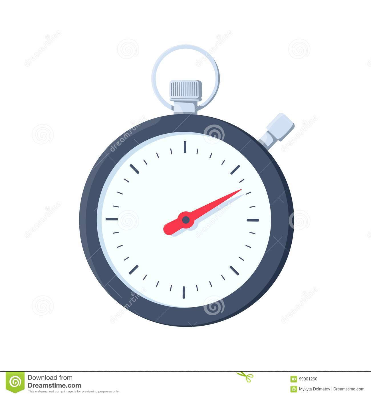 Stopwatch Icon  Flat Illustration Of Stopwatch Vector Icon