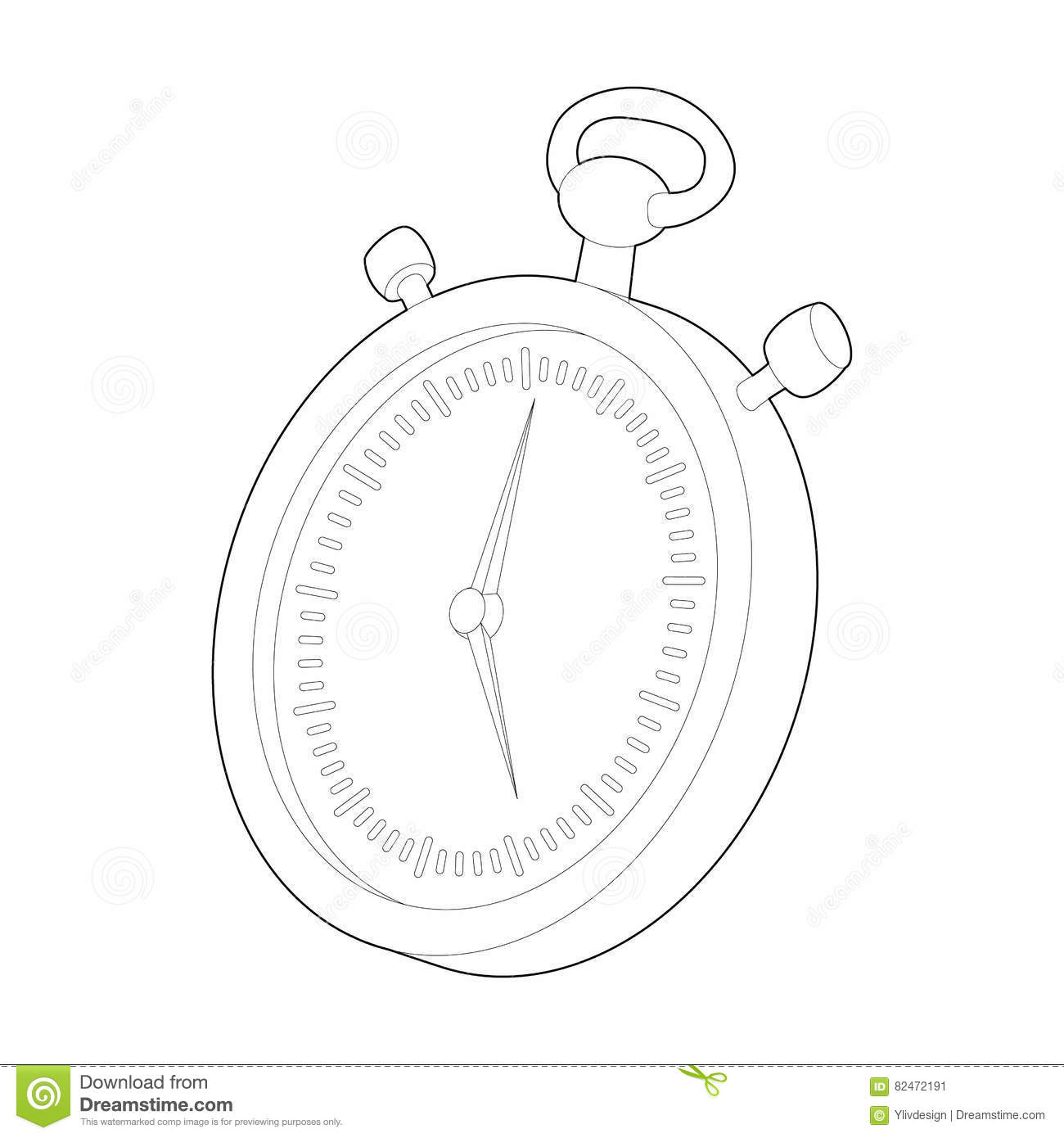 stopwatch icon  outline style vector illustration
