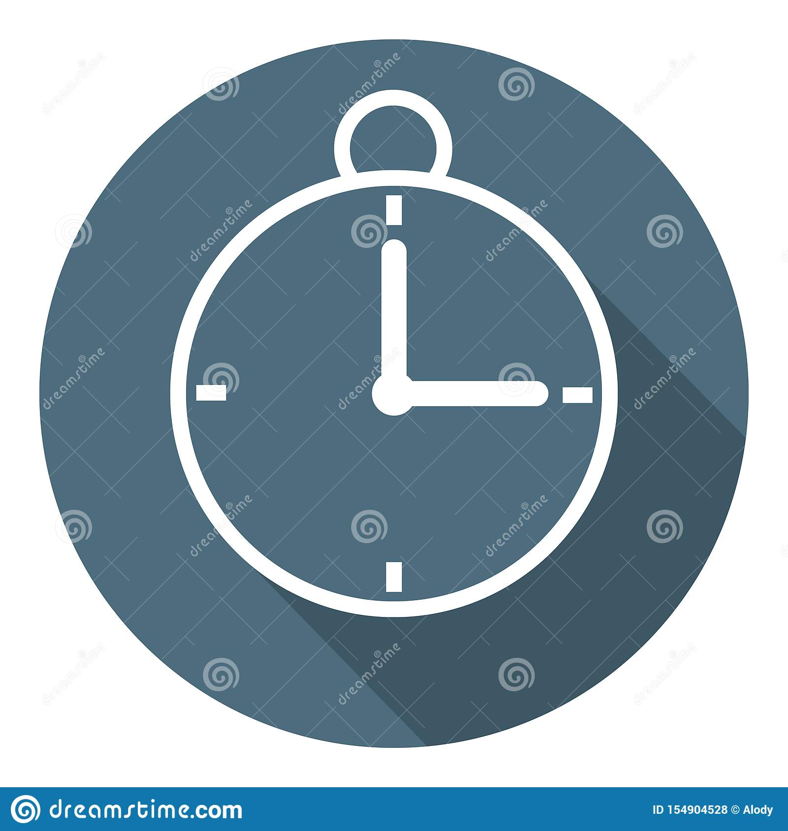 Stopwatch Icon. Time Symbol. Outline Flat Style. Vector illustration for Your Design, Web