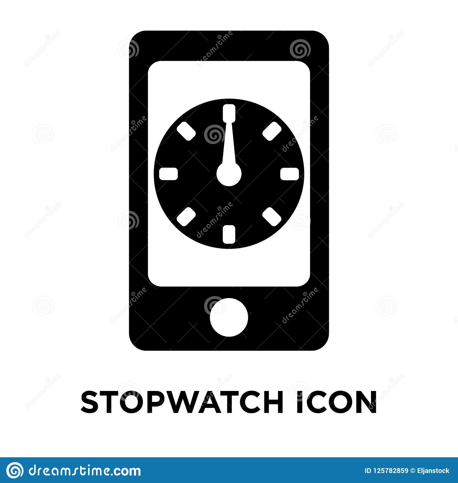 Stopwatch Icon Vector Isolated On White Background, Logo