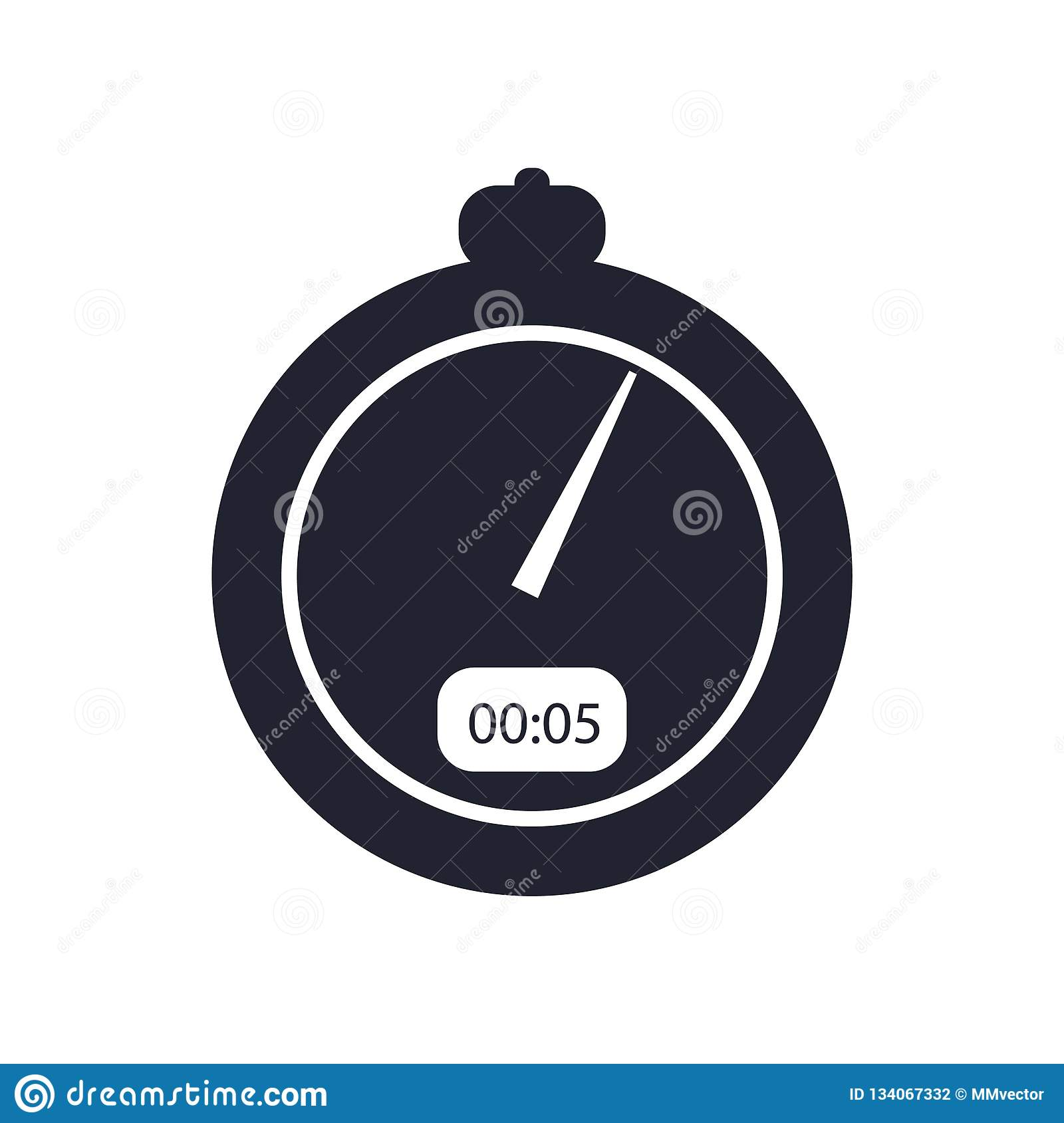 Stopwatch icon vector sign and symbol isolated on white background, Stopwatch logo concept