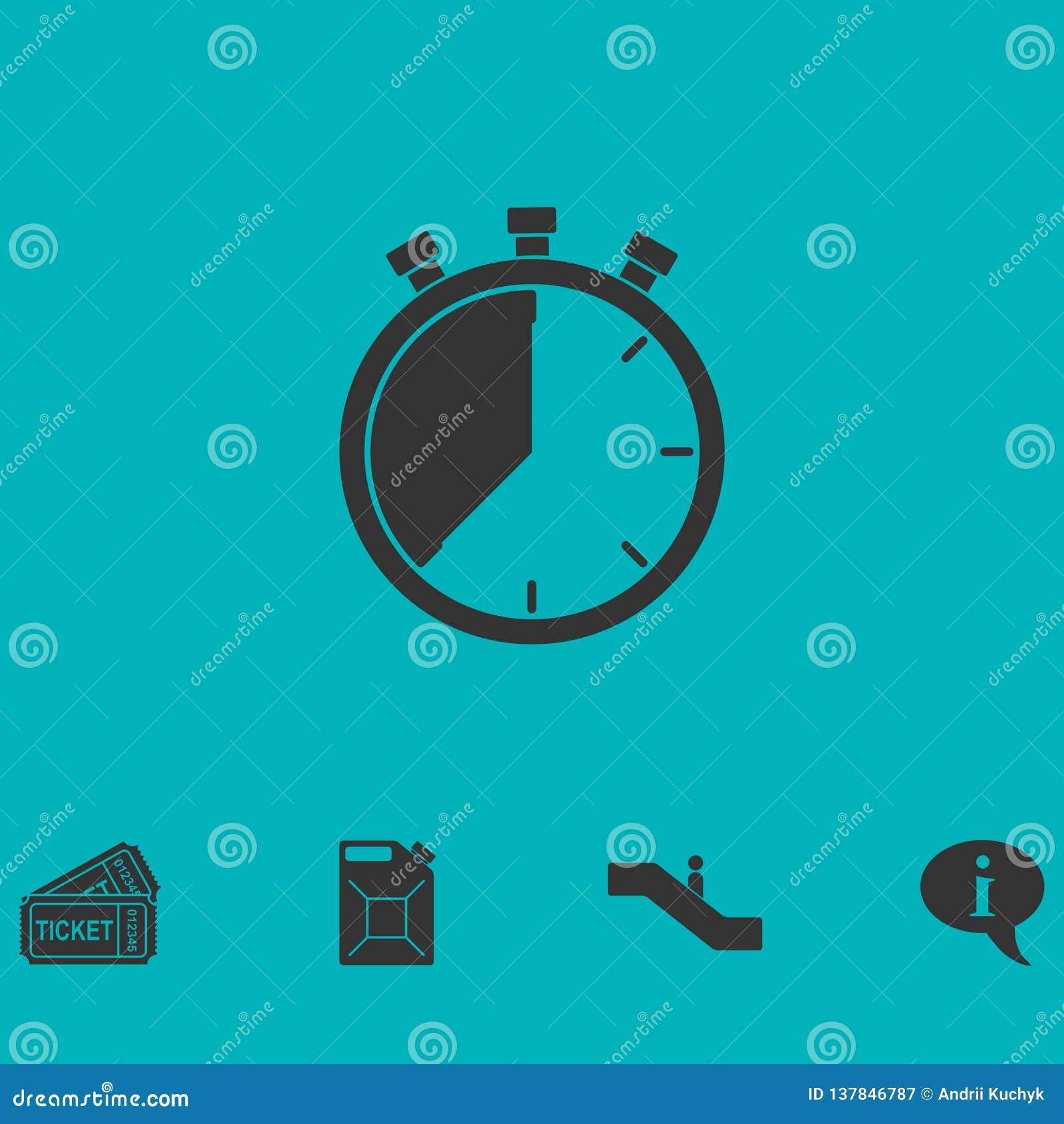 Stopwatch ikony mieszkanie