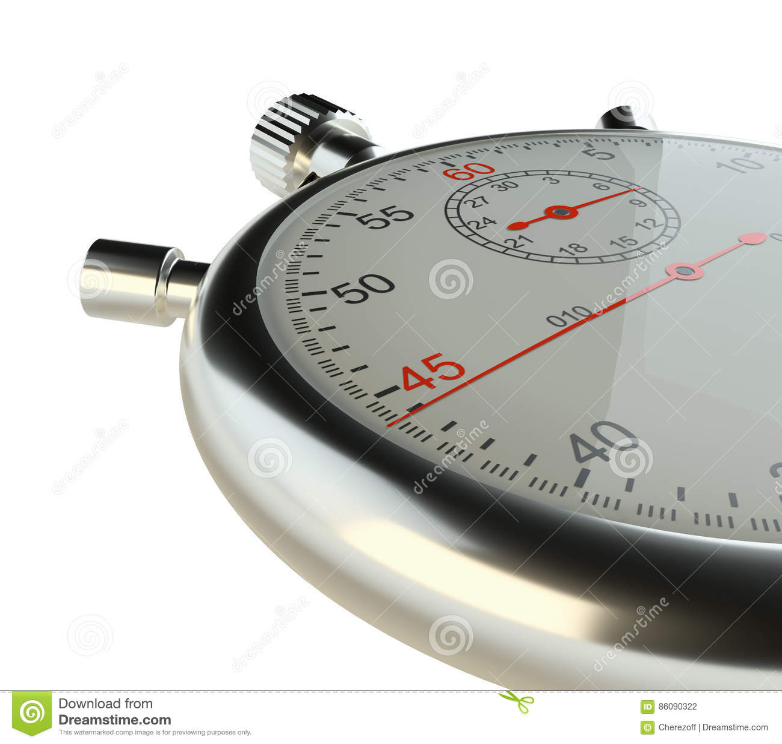 Stopwatch Isolato su bianco