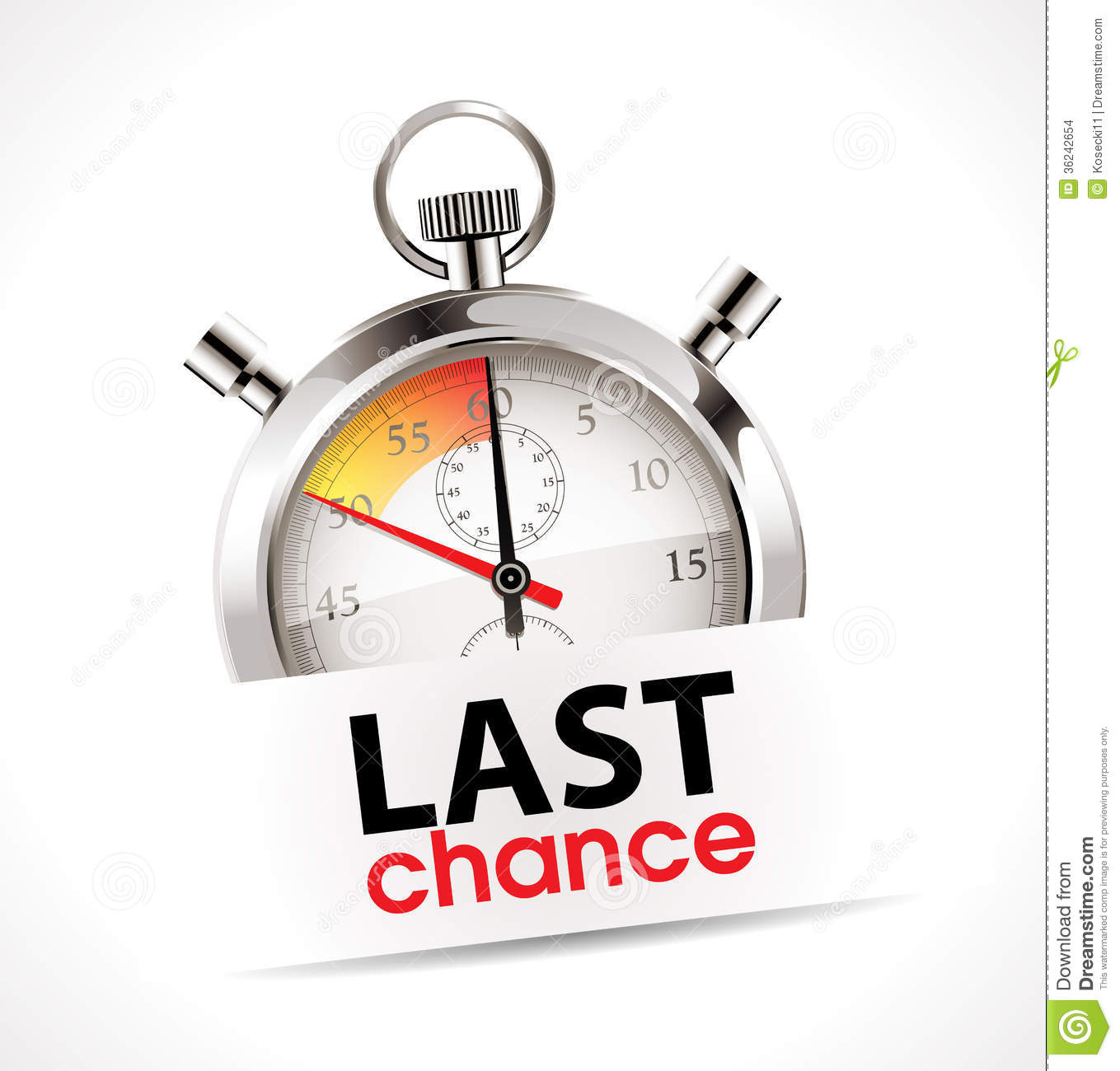 Stopwatch - Last Chance Stock Images - Image: 36242654