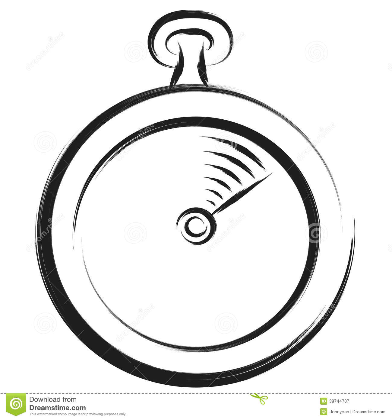 Stopwatch Sketch Royalty Free Stock Photography Image