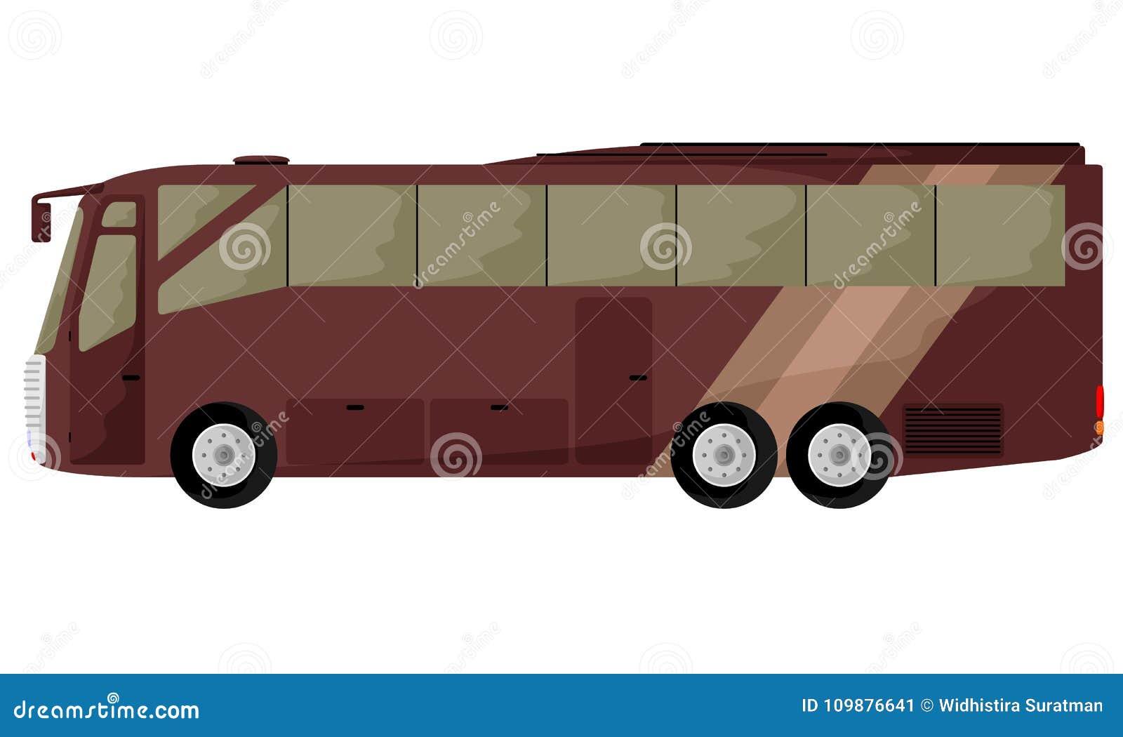Stor brun buss
