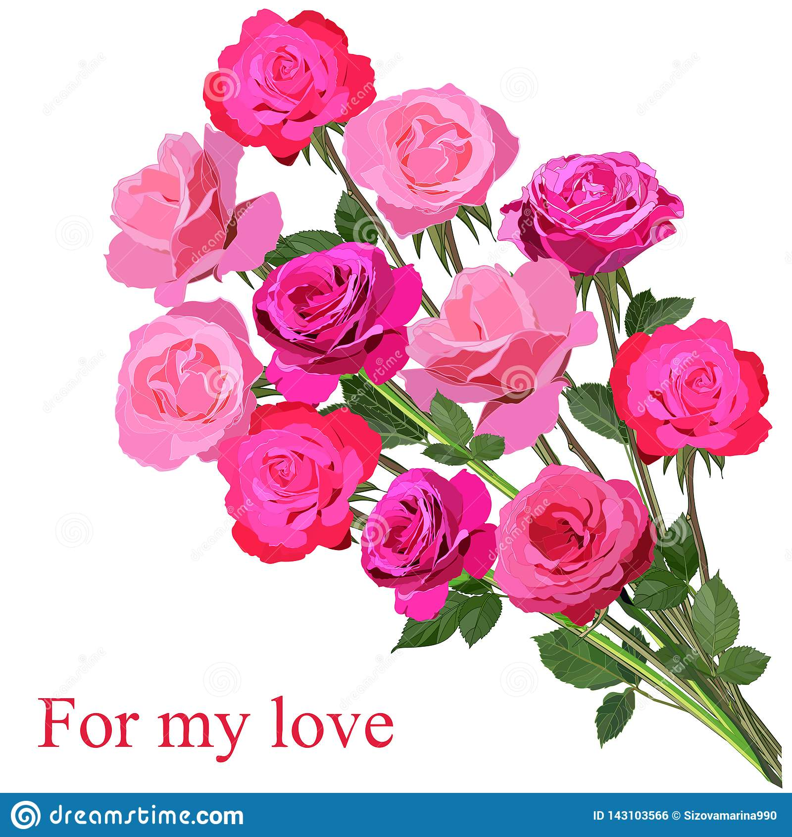 Stor bukett av ljusa rosa rosor som isoleras på vit bakgrund