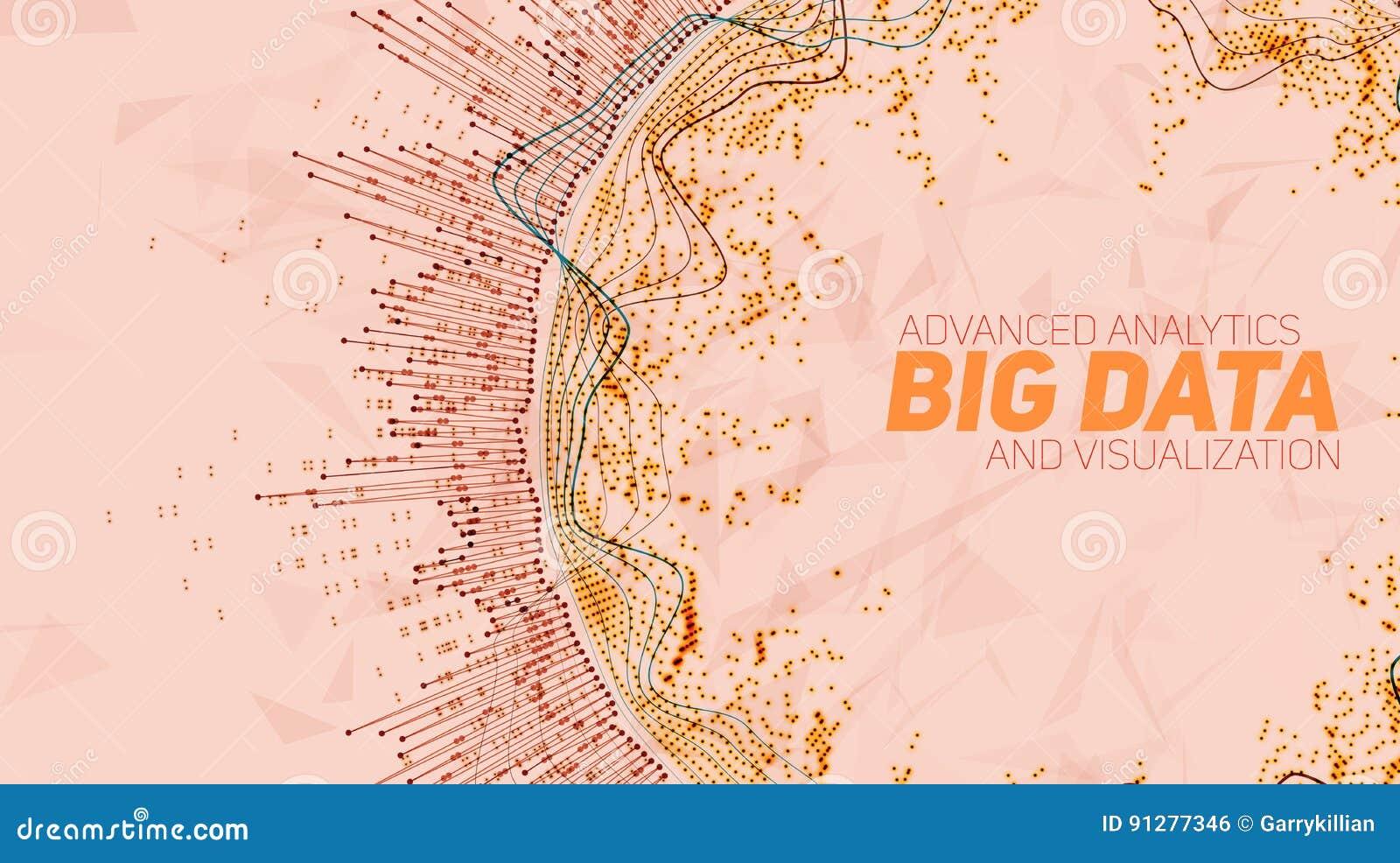 Stor datacirkulärvisualization Futuristiskt infographic Estetisk design för information Visuell datakomplexitet