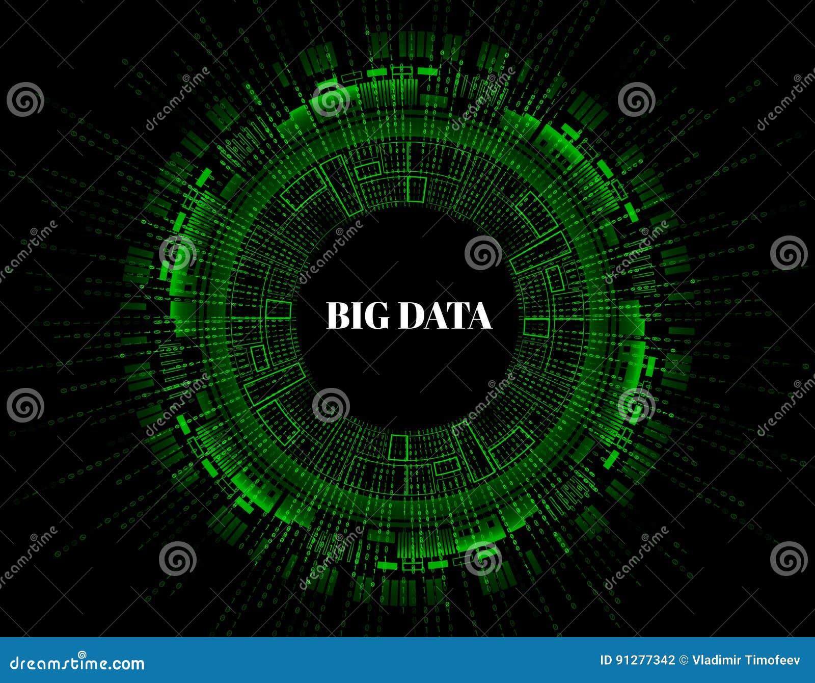 Stor datavisualization Futuristiskt infographic Estetisk design för information Visuell datakomplexitet Abstrakt data